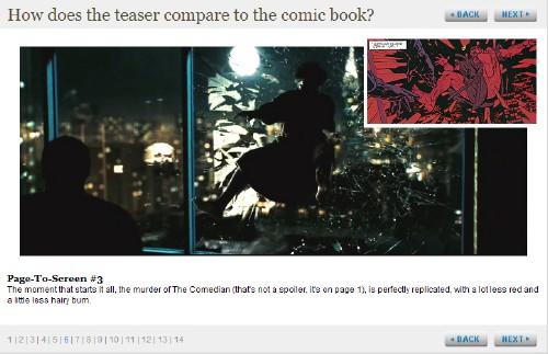 Watchmen Trailer-Comic-Vergleich
