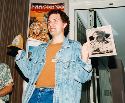 Marcus Hammerschmitt bei der Verleihung des SFCD-Literaturpreises 1996