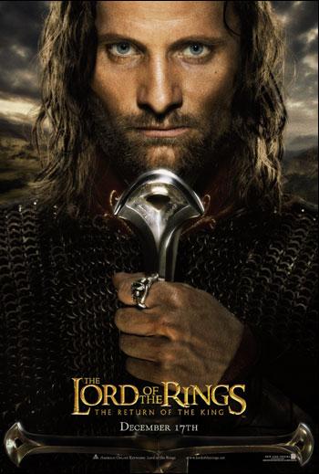 Kinoposter Herr der Ringe Die Rückkehr des Königs