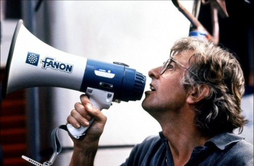 Paul Verhoeven am Set von Total Recall
