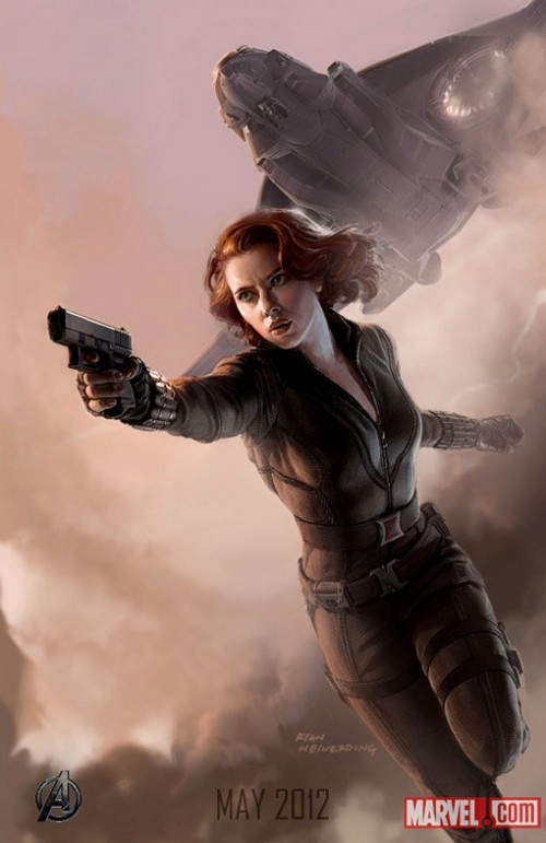 Avengers Kinoposter 2012 Black Widow