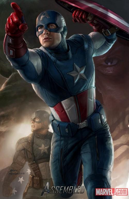 Avengers Kinoposter 2012 Captain America