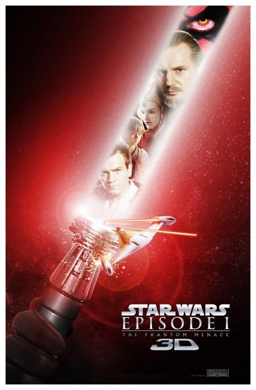 Kinoposter zu Star Wars: Episode 1 – Die dunkle Bedrohung 3D