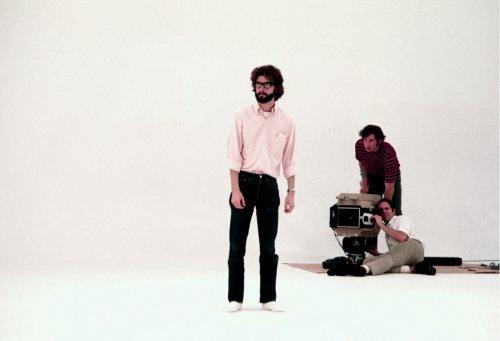 George Lucas am Set von THX 1138 (1970)