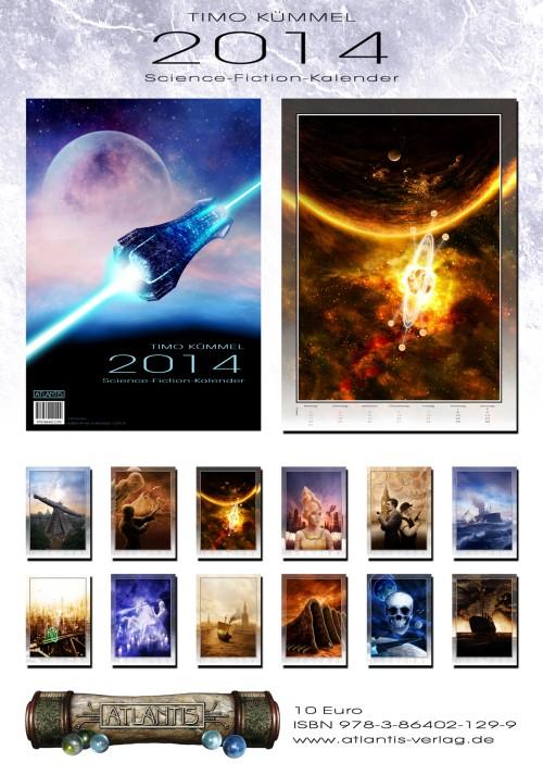 Timo Kümmel Science-Fiction-Kalender 2014 Überblick