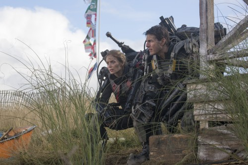 """Edge of Tomorrow (3D)  Copyright: © 2013 WARNER BROS. ENTERTAINMENT INC. - U.S., CANADA, BAHAMAS & BERMUDA  © 2013 VILLAGE ROADSHOW FILMS (BVI) LIMITED - ALL OTHER TERRITORIES  Photo Credit: David James  Caption: TOM CRUISE as Major William Cage in Warner Bros. Pictures' and Village Roadshow Pictures' sci-fi thriller """"EDGE OF TOMORROW,"""" distributed worldwide by Warner Bros. Pictures and in select territories by Village Roadshow Pictures."""