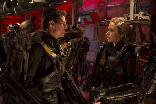 "Edge of Tomorrow (3D)  Copyright: © 2013 WARNER BROS. ENTERTAINMENT INC. - U.S., CANADA, BAHAMAS & BERMUDA  © 2013 VILLAGE ROADSHOW FILMS (BVI) LIMITED - ALL OTHER TERRITORIES  Photo Credit: David James  Caption: TOM CRUISE as Major William Cage in Warner Bros. Pictures' and Village Roadshow Pictures' sci-fi thriller ""EDGE OF TOMORROW,"" distributed worldwide by Warner Bros. Pictures and in select territories by Village Roadshow Pictures."