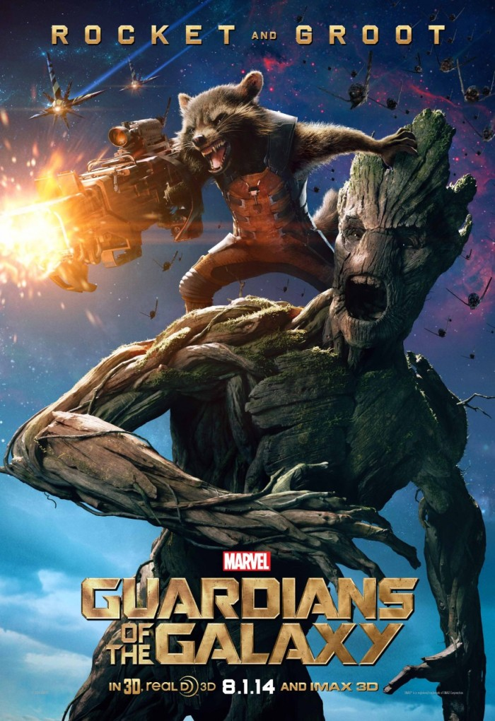 Poster Guardians of the Galaxy Rocket Racoon Groot