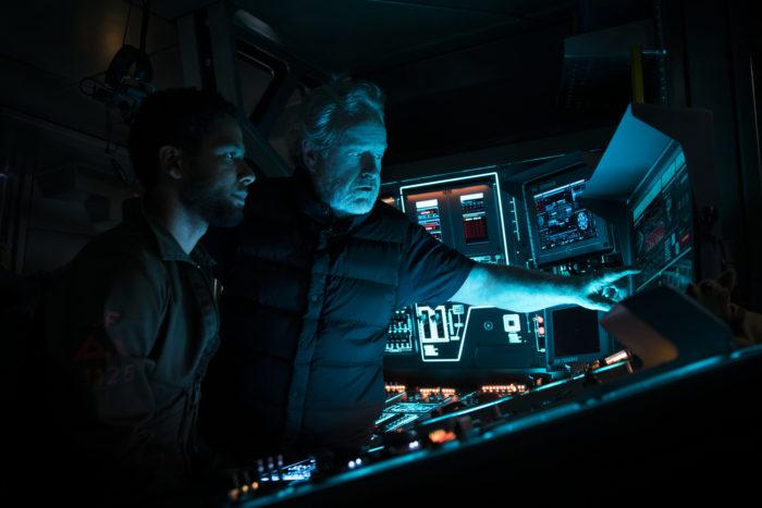 Ridley Scott am Set von Alien: Convenant